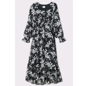 Isabel Maternity Chiffon Floral Maxi Dress